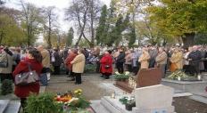 Ostróg - Msza św. na cmentarzu