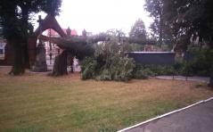 Niebezpieczna burza narobiła szkód